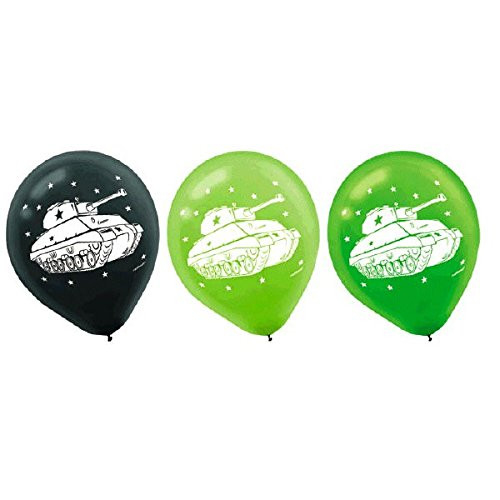 Camouflage Pack Of 6 Helium Quality Latex Balloons