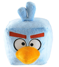 Angry Birds Large 16 Inch Plush Toy With Sound - Ice Bird Square