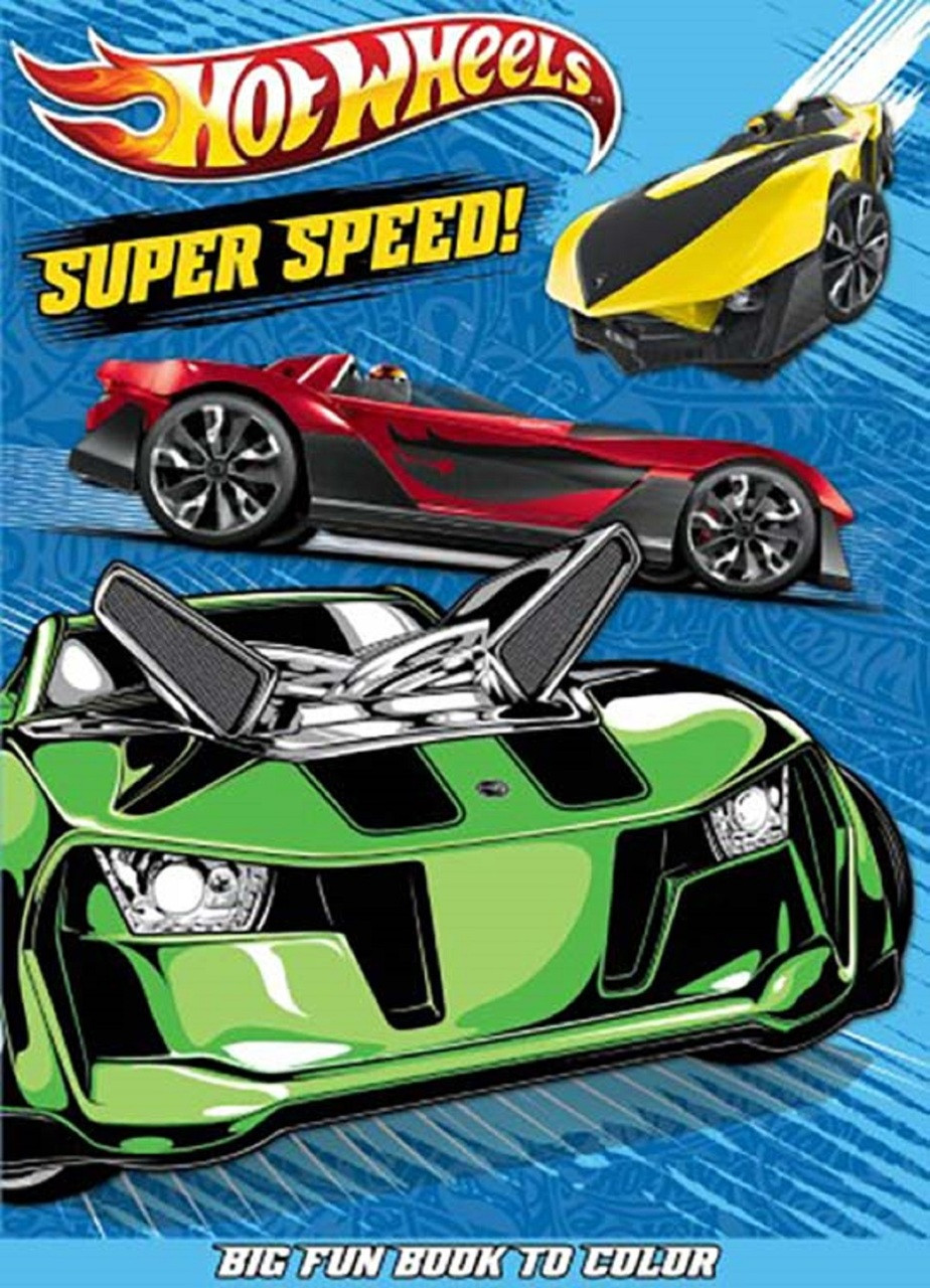 Hot Wheels Big Fun Book to color - Super Speed