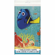 Finding Dory Plastic Table Cover - Blue/Yellow