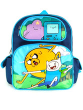 """Adventure Time Small 12"""" Cloth Backpack Book Bag Pack"""