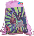 Drawstring Bag - Hannah Montana 2 Crew Pink Cloth String Bag