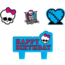 Monster High 4 Piece Molded Candle