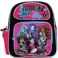 "Monster High Small Toddler 12"" Cloth Backpack Book Bag Pack - Purple"