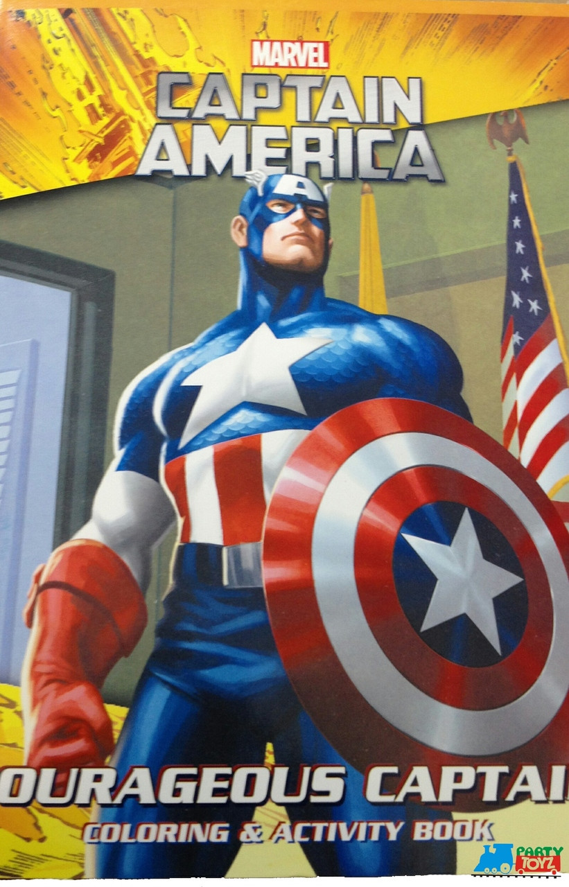 "Captain America Jumbo 96 pg. Coloring and Activity Book - ""Courageous Captain"""