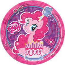 My Little Pony Small 7 Inch Round Party Cake Dessert Plates