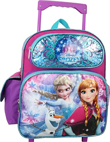 ac822a7b3bb8 Frozen Small 12 inch Toddler Rolling Backpack - Elsa, Ana, Olaf