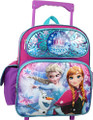 Frozen Small 12 inch Toddler Rolling Backpack - Elsa, Ana, Olaf