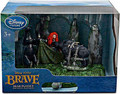 Disney Merida Brave  Bear Set Figures - Merida And Two Bears