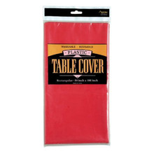 Axiom Plastic Table Cover Solid Color -  Red