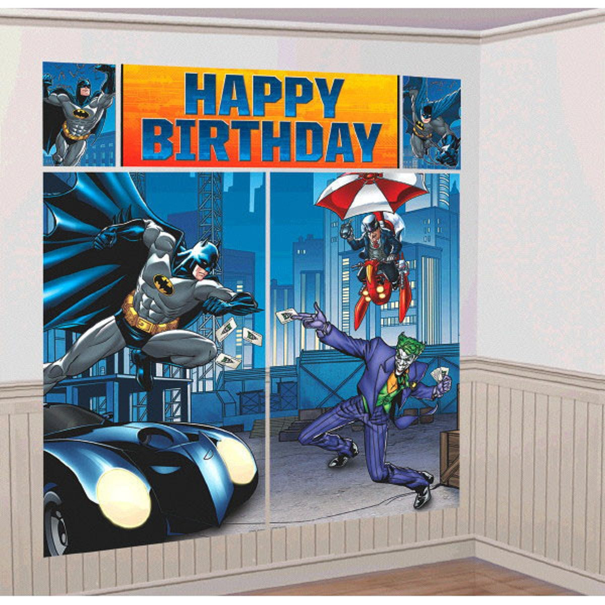 Batman Giant Scene Setter Wall Decorating Kit
