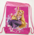Drawstring Bag - Tangled Princess Rapunzel Hot Pink Cloth String Bag