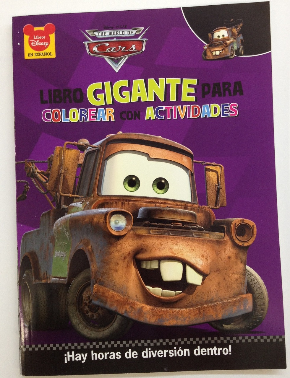Cars Giant 96 pg.English / Spanish Coloring and Activity Book - Mater