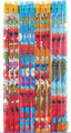 Elmo & Friends White/Blue/Orange/Light-blue Wooden Pencils Pack of 12