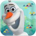 Frozen Olaf 7 Inch Small Dessert Party Cake Square Plates