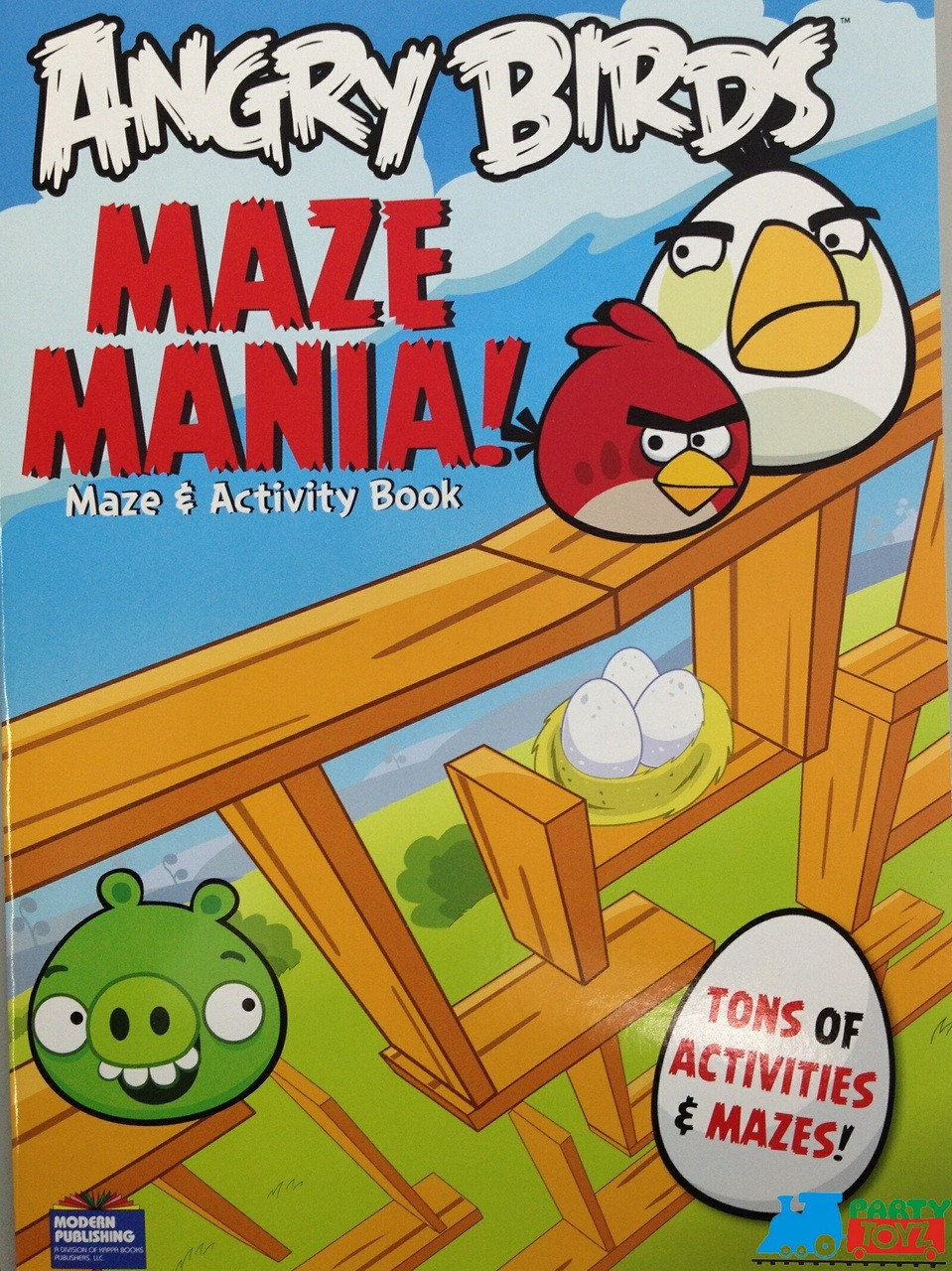 Angry Birds 96P Giant Coloring Maze And Activity Book
