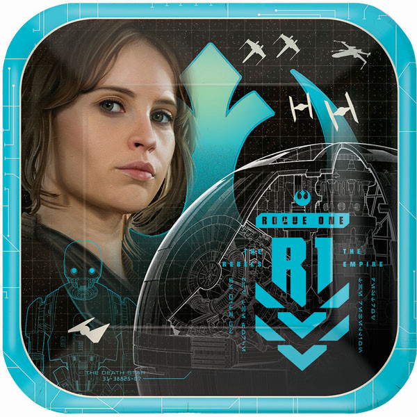 Star Wars Rogue 1 Small Square 7 Inch Party Cake Dessert Plates