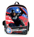 "Captain America Large 16"" Cloth Backpack Book Bag Pack - Black"