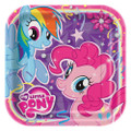 My Little Pony Large 8 Inch Square Lunch Dinner Plates - Purple