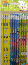 Spongebob Squarepants & Friends Yellow/Blue/Green Wooden Pencils Pack of 12
