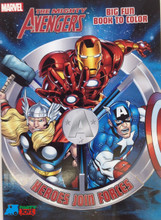 Marvel Avengers 64 Pg Big Fun Book to Color Coloring Book - Heroes Join Forces