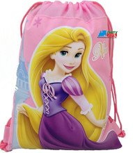 Drawstring Bag - Tangled Princess Rapunzel Light Pink Cloth String Bag