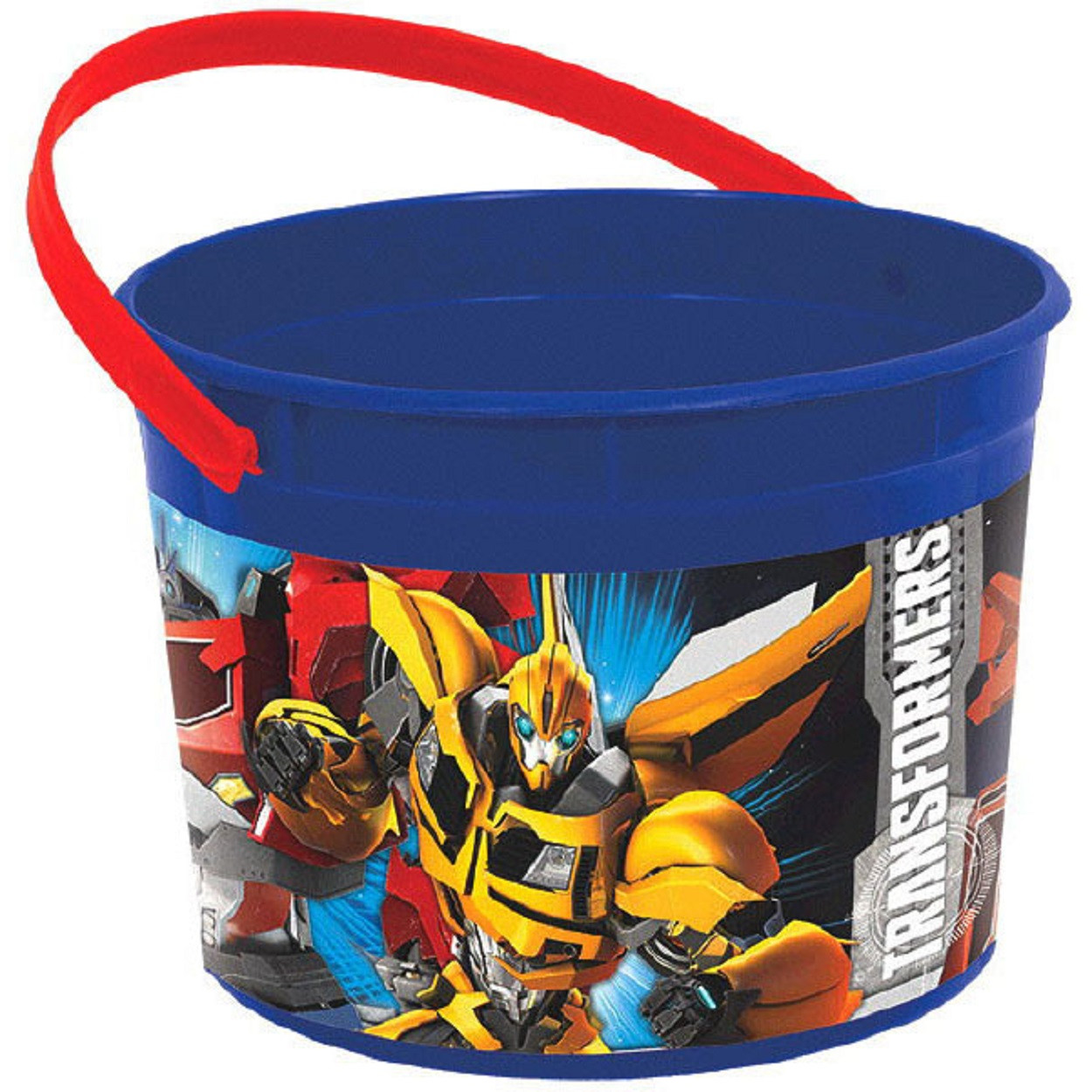 Transformers Plastic Favor Bucket Container ( 1pc ) - Blue