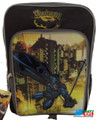 "Batman Large 16"" Cloth Backpack Book Bag Pack - Gray"