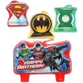 Justice League 4 Piece Molded Candle Set