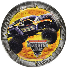 Monster Truck Jam 6 Inch Small Round Party Cake Dessert Plates