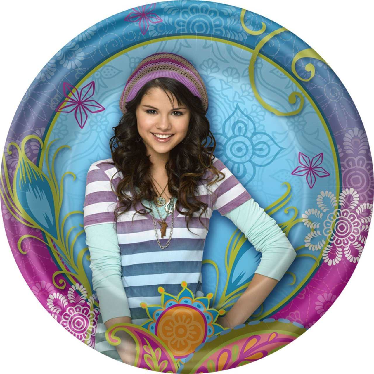 Wizards of Waverly Place Small 7 Inch Round Party Cake Dessert Plates