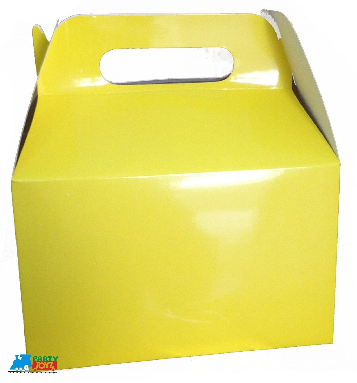 12X Solid Color Yellow Paper Treat Boxes