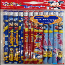 Mickey Mouse & Friends Blue/Red/Sky-blue Wooden Pencils Pack of 12