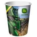 John Deere Beverage 9 oz Paper Cups - Green