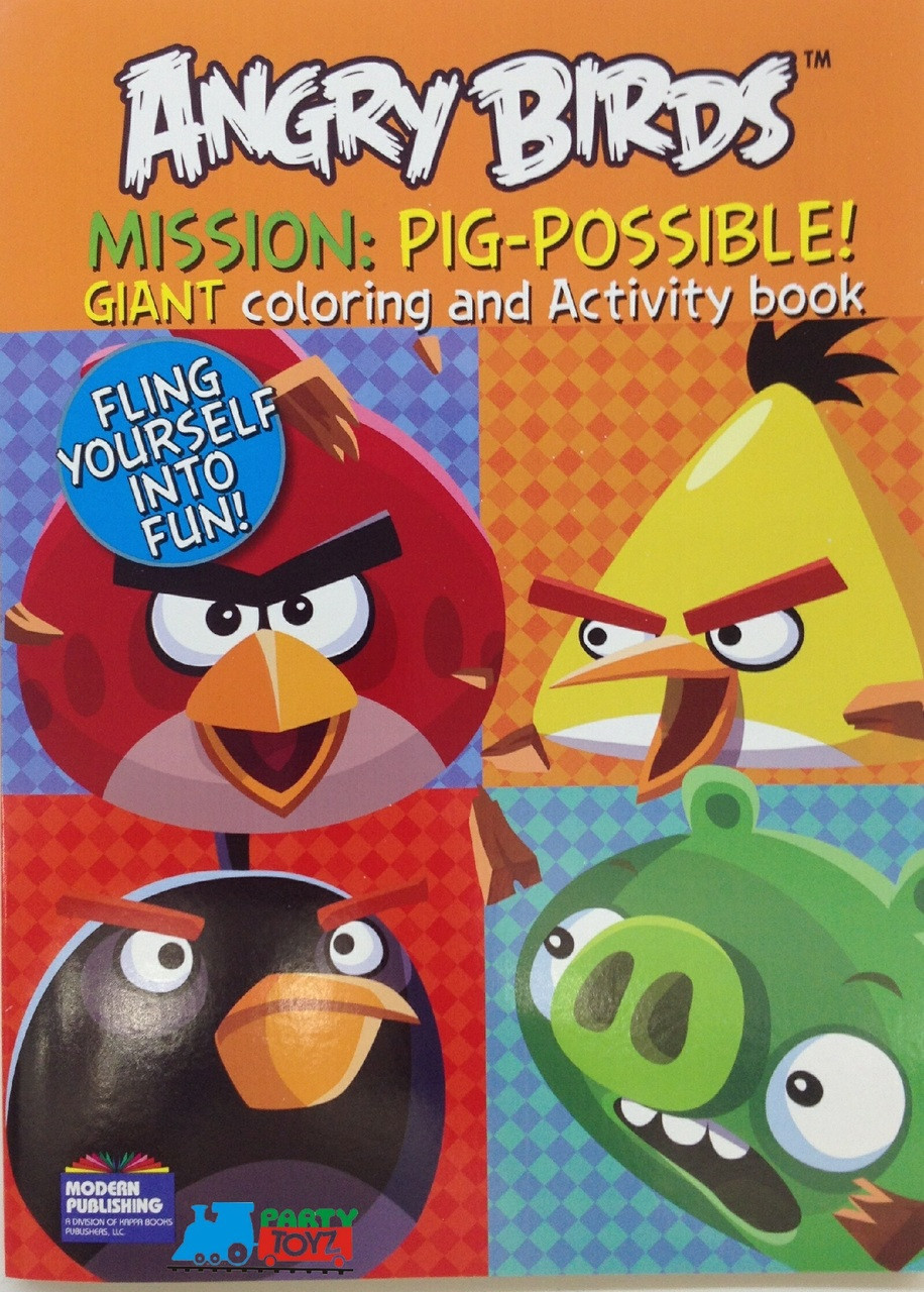 Angry Birds 96P Giant Coloring and Activity Book - Mission: Pig Possible
