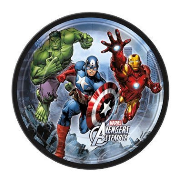 Avengers Assemble Small 7 Inch Party Cake Plates