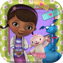 Doc McStuffins 7 Inch Small Party Cake Dessert Plates