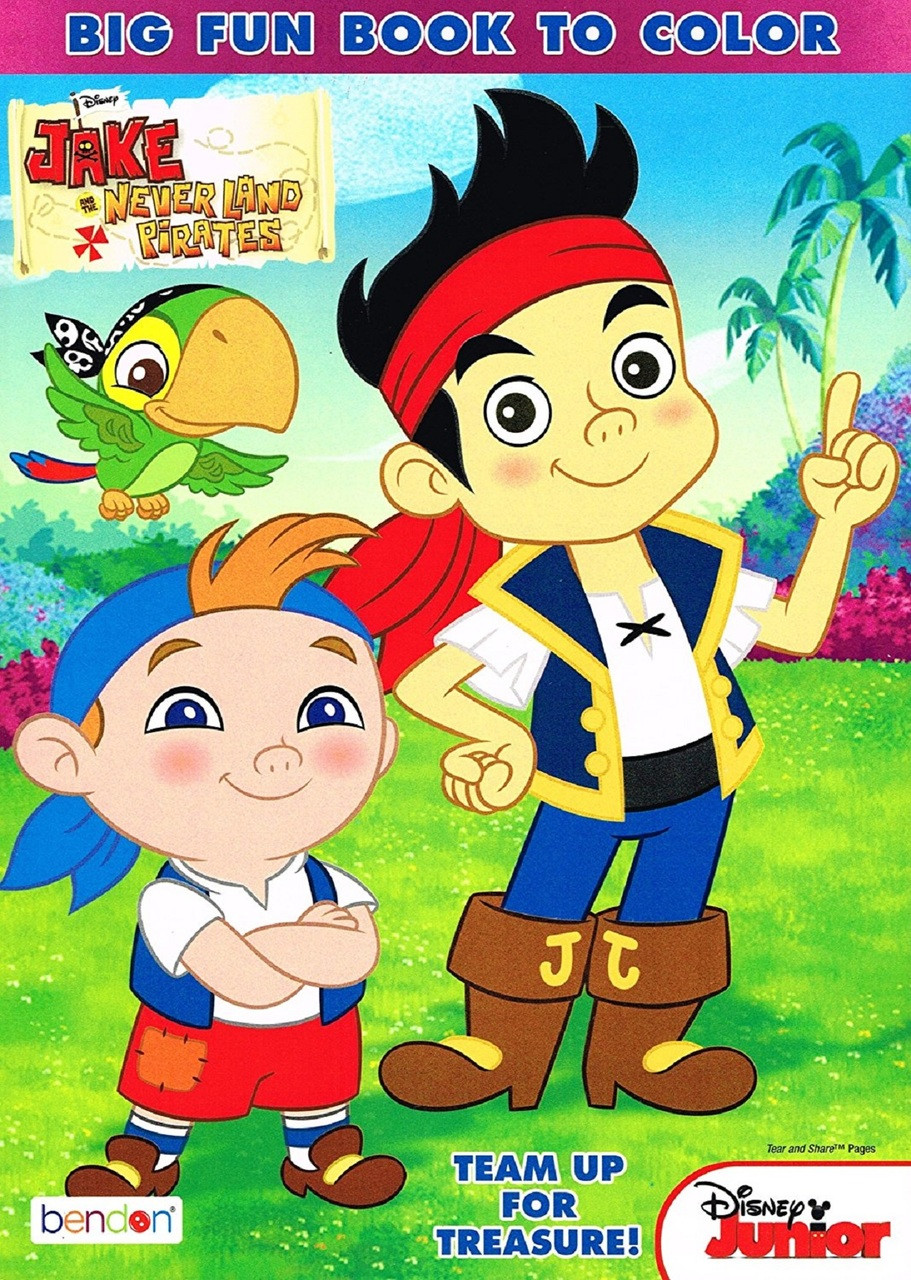 Jake and the Neverland Pirates 96 Pg Coloring and Activity Book - Team Up