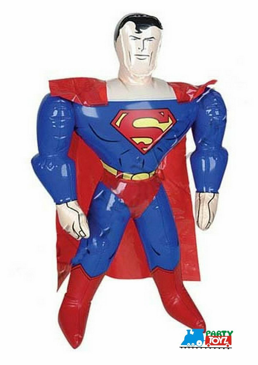 Superman Small 24 Inch Inflatable Toy Inflate