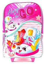 """Shopkins Large Rolling Backpack - """" Always On The Go """""""
