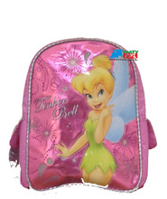"""Tinkerbell 12"""" Inch Girl's Small Pink Backpack"""