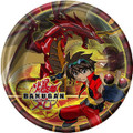 Bakugan Large 9 Inch Round Lunch Dinner Plates