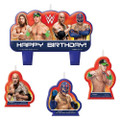 WWE 4 Piece Molded Candle Set - Blue/Yellow