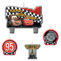 Cars Molded 4 Piece Candle Set -Formula Racer