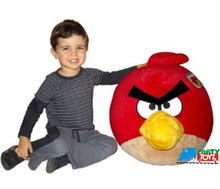 Angry Birds Large 16 Inch Plush Toy With Soun-Red Bird