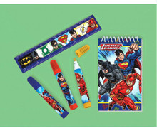 Justice League Packaged Favor Stationery Set