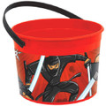 Ninja Zone Plastic Favor Bucket Container ( 1pc )