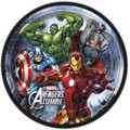 Avengers Assemble 8 Inch Large Lunch Plates  - Black