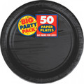 Big Party Pack Small 7 Inch Paper Plate - Black
