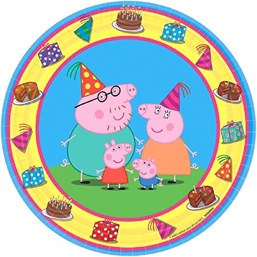 Peppa Pig 7 Inch Small Round Party Cake Plates